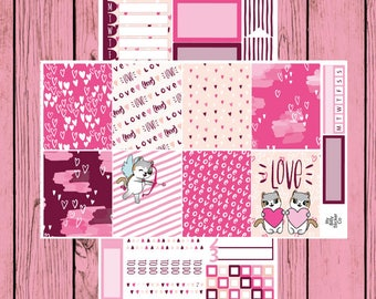 Happy Valentine's Day - Itty Bitty Kitty - Valentine's Day Mauly - 2 page mini kit