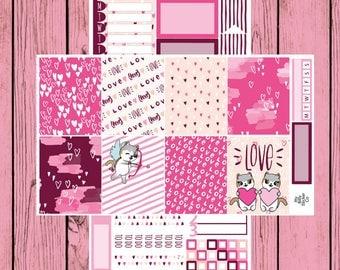Happy Valentine's Day - Itty Bitty Kitty - Valentine's Day Mauly - 2 page mini kit