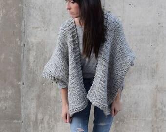 Knitting Pattern Kimono, Sweater Knitting Pattern, Telluride Knit Kimono Pattern, Easy Knit Cardigan Pattern, Beginner Sweater Pattern