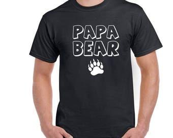 Papa Bear Shirt, Fathers Day Shirt, I Love My Papa Bear Tee, Fathers Day Gift Idea, Fathers Tee, Papa Bear Shirt, Gift For Him