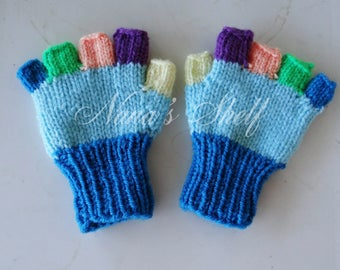 Color Me Fun Fingerless childrens gloves - small