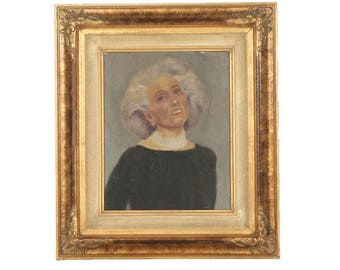 Vintage Oil Portrait of a Lady