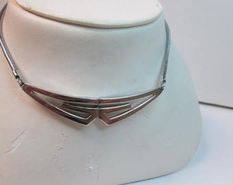 Givenchy stainless steel choker silver tone