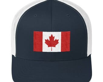 Canadian Trucker Hat - Canadian Trucker Cap - Canadian Cap - Canada Flag Hat - Canada Flag - Canadian Flag - Canadian Flag Hat - Canada