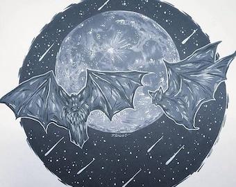 On Sale I'll Follow You Into The Dark Print (Bats)