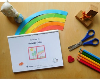 "book ""Do You Know The Rainbow Lane?"", inkjet print, comb binding"