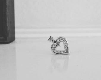 Full of sparkle diamond love heart pendant