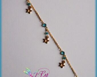 Bracelet/anklet chain Swarovski crystals