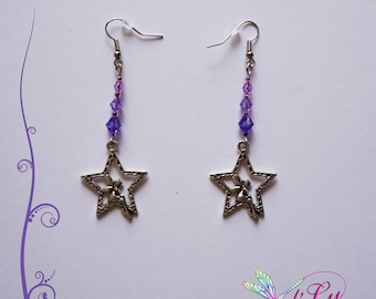 Fairy and star earring