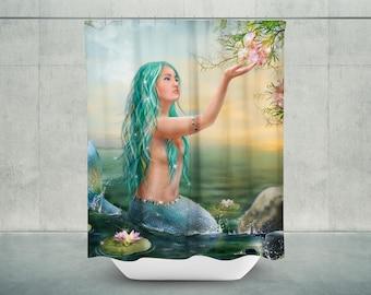 Mermaid bathroom | Etsy