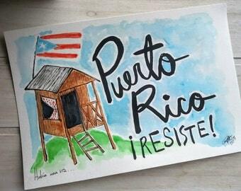 Sticker Puerto Rico Resiste!