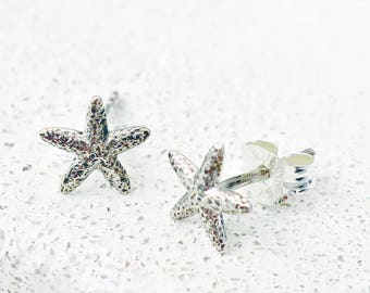 Starfish Earrings, Dainty Earrings, Tiny Stud Earrings, Stud Earrings, Beach Wedding, Bridesmaid Gift, Coworker Gift, Gift for Daughter