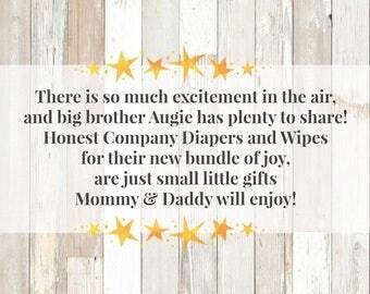 Twinkle Twinkle Little Star Baby Shower Invitation Enclosure