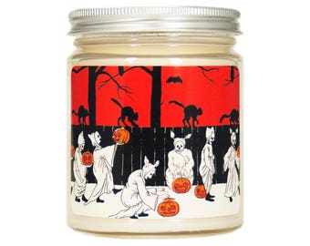 Halloween Decor, Halloween Candle, Scented Candle, Soy Candle, Vintage Candle, Vintage Halloween, Container Candle, Halloween Decoration