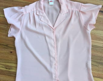 Spring Sale - Vintage sheer pink blouse