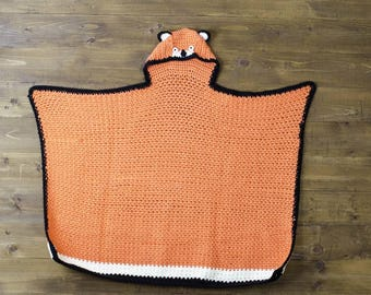 Fox Hooded Blanket