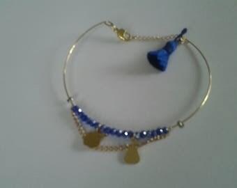 Blue silver Bangle Bracelet