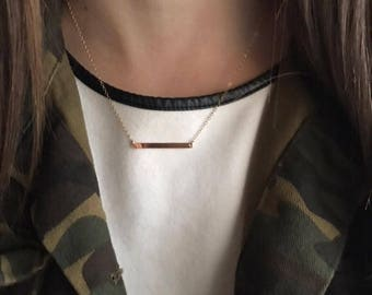 Skinny bar necklace, Delicate Bar Necklace,  Minimalist necklace, dainty necklace gold bar necklace