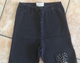 1990's Second Skins High-Waisted Denim Stretch Shorts (M) • Vintage Denim Bike Shorts