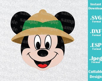 INSTANT DOWNLOAD SVG Disney Animal Kingdom Inspired Mickey Mouse Ears for Cutting Machines Svg, Esp, Dxf and Jpeg Format Cricut Silhouette