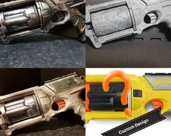 Nerf Maverick Rev-6 custom painted cosplay blaster range by Speedys cosplay curio