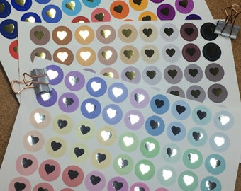 Foiled Heart Icons | Brights | Pastels | Neutral