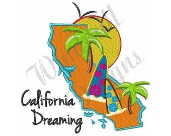 California Dreaming - Machine Embroidery Design