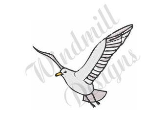 Flying Seagull - Machine Embroidery Design