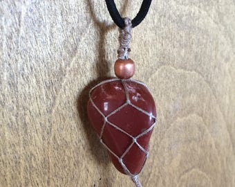 Red Jasper Net Necklace