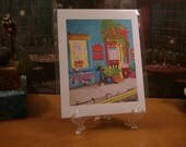 New Orleans Art // FREE SHIPPING // Fine Art Print from my Original Painting // Victorian Lodgings // Backing Board & Bag