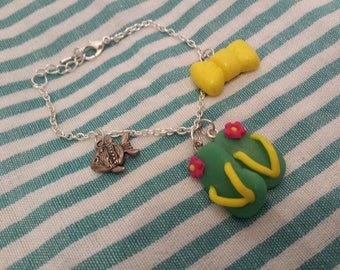 """Beach and tong """"holiday memories"""" bracelet"""