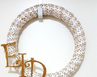 Glittery Gold Eid Wreath