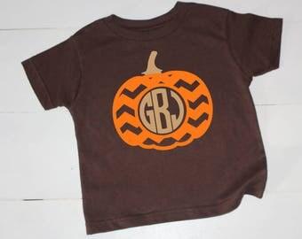 Pumpkin Shirt, Fall Shirt, Kids Fall Shirt, Kids Pumpkin Shirt, Monogrammed Fall Shirt