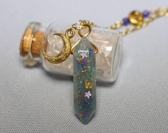 Blue Crystal Nebula Necklace