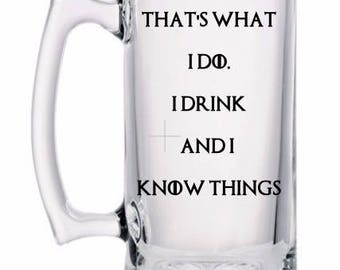 Game of Thrones Mug | GOT | I Drink and I Know Things