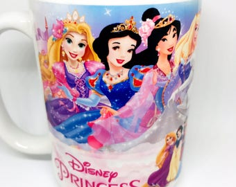 Custom Made Disney Princess Collection Coffee Mug 11oz or 15oz with your name Personalized