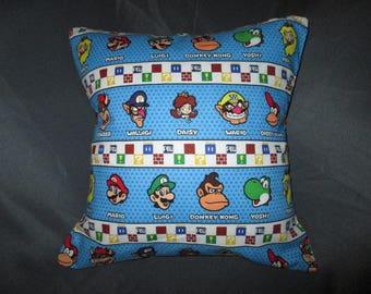 "Nintendo Mario Kart (Mario, Wario, Luigi, Yoshi, Donkey Kong, and more) 16"" x 16"" Decorative Throw Pillow (with Insert)"