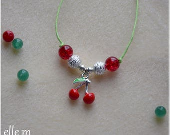Necklace with cherry