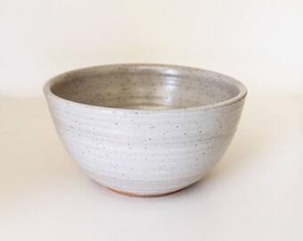 White Bowl, Rustic white bowl, Rustic bowl, Handmade bowl, ceramic bowl