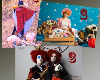 Alice in Wonderland, Mad Hatter, Red Quenn, toy story Bo peep, Lydia Deetz from Beetlejuice  Cosplay Print - Signed