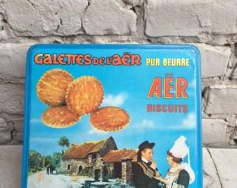 Vintage box AER biscuits France