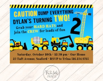 Tonka Truck Birthday Invitation, Construction First Birthday Invitation, Construction Invitation, Construction Truck Invitation Printable