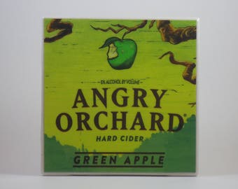 Angry Orchard Green Apple Hard Cider Ceramic Coaster