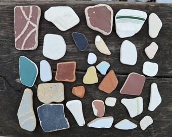 Sea Tile Shards Sea Pottery Shards Beach Sea Terracotta Beach Sea Pottery Shards Beach Pottery Tile Mosaics Craft Genuine Sea Pottery Shards