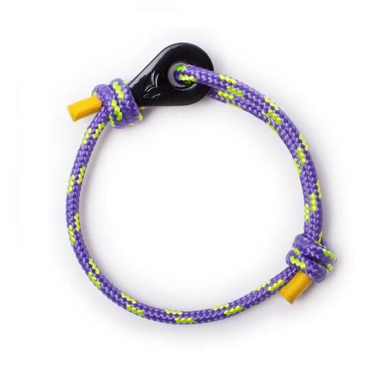 BLACK THIMBLE BRACELET - violet nautical bracelet, bracelets for men, bracelets for women, unique bracelet, unique wrist band, wrist wrap,