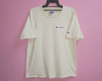 Vintage champion tee shirt small logo large size made in Usa