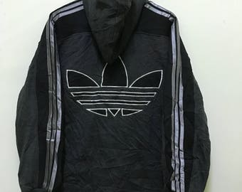 vintage 90s adidas trefoil big logo spell out lolife style swagger rap hip hop made in japan promo hoodies