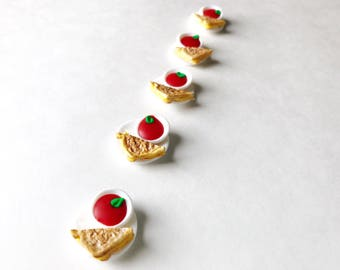 Miniature Food Jewelry, Tomato Soup and Grilled Cheese, Handmade Polymer Clay Food Charm, Zipper Pull, Braclet Charm