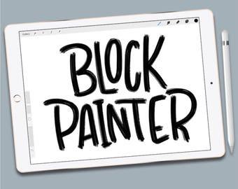 Procreate Brush: Block Painter Brush