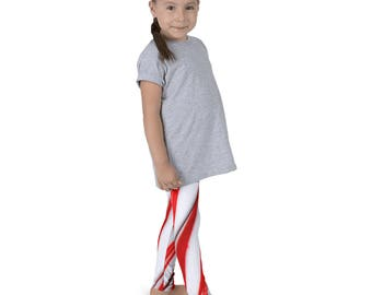 Kids Candy Cane leggings, Kids  Christmas leggings, cool kids leggings, funky kids leggings, cool kids clothes